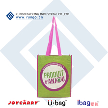 Long Handle Style and PP Material Laminated Woven Bags Made in China