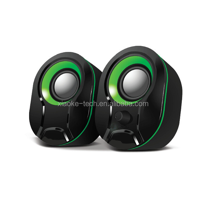 Computer 2.0 usb wired Notebook speaker with good bass stereo sound
