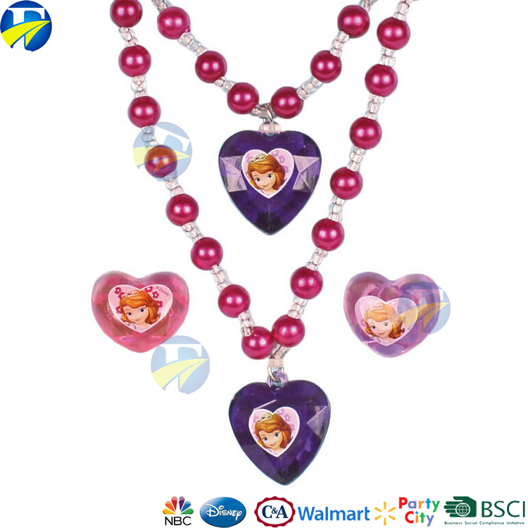FJ brand children jewelry party gift sets kids artificial imitation pearls jewelry set