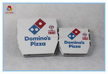 corrugated kraft paper pizza box with OEM logo for fast food packaging, pizza box