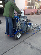 Cold paint spray road line marking machine