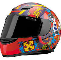 SparX S-07 Full-Face Motorcycle Helmet - Kintaro Red TR