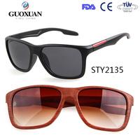 2015 new arrived water transfer wood framed sunglasses in stock custom logo