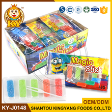 Halal Sugar Coated Square Bar Fruit Jelly Soft Candy