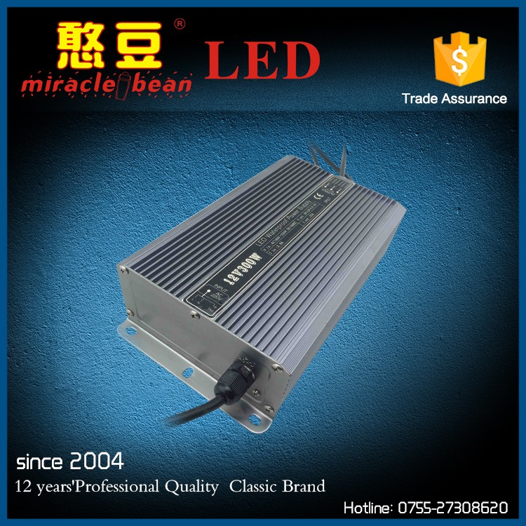 Outdoor Metal Shell Switching Mode AC DC 300W Power Supply Triple Output