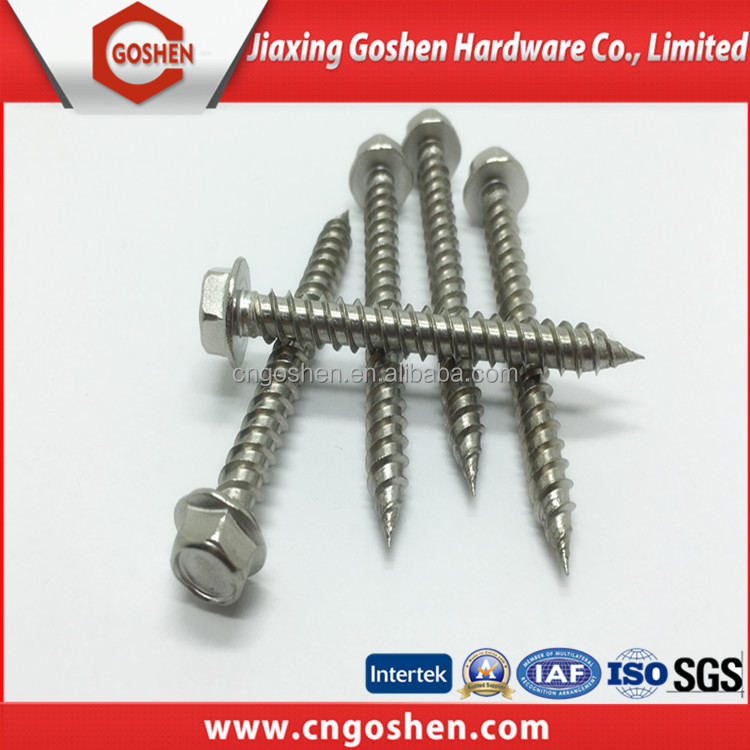 stainless steel hex washer head self tapping <strong>screw</strong>