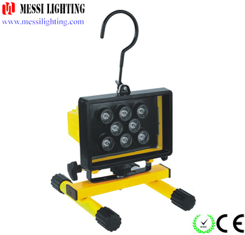 ningbo zhejiang Newest style outdoor Ultr brigght led work light 8watt rechargeable flood light with a hook
