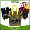 custom rush order non woven fabric reusable tote shopping 6 body bottles wine carrier bag alibaba trade assurance