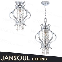 chinese fashionable lantern led light unique pendant light wrought iron silver crystal chandelier pendant light fixtures