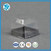 Custom PET Food Container Plastic Cup Cake Slice Box