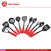 10 pcs good quality red color nylon utensils kitchen accessories