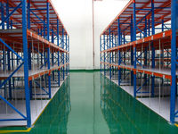 Q235b warehouse pallet racking with wooden board