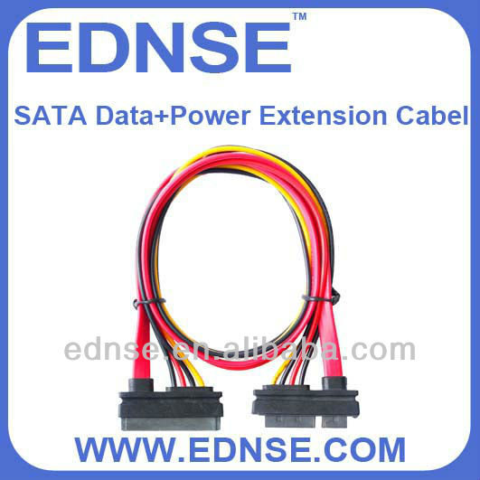 EDNSE SATA Data and Power Extension Cable data cable