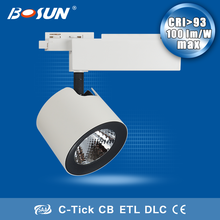 alibaba website 30w dimmable led track light 30w cob led track light for jewelry, cloth shop