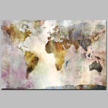 Digital Canvas Prints Old World Map Wall Art Painting Free Sample