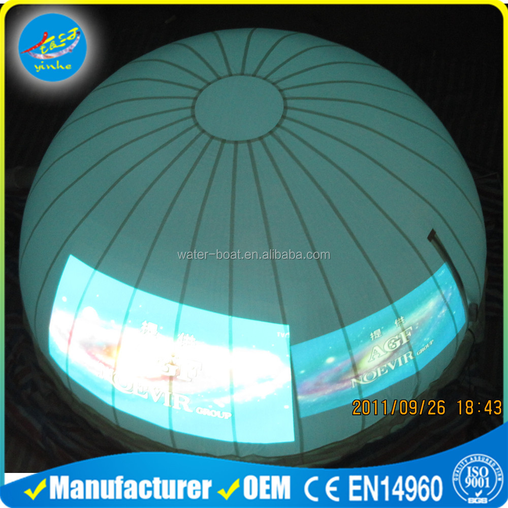 Inflatable White Dome Projection Tent