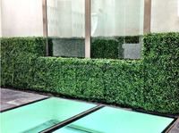artificial green grass wall/fence for decoration