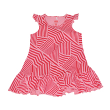 Infant/baby/child printed pink sleeveless baby dress