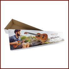 Full color printing guitar paper box Ukulele shipping for E-commerce