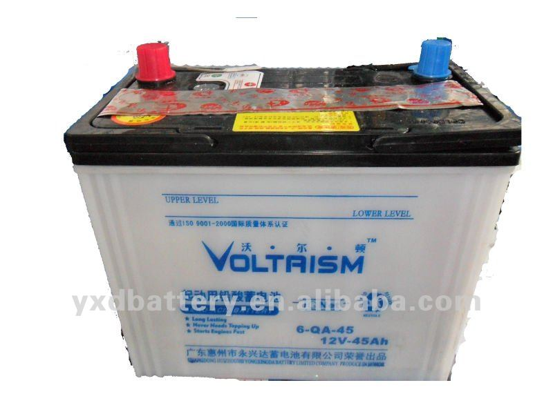 12v 45ah car battery dry battery