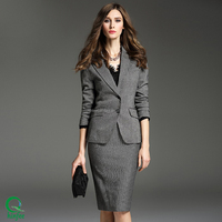 Ladies Formal Office Skirt Wear Women Wool Coats Pants Business Suits