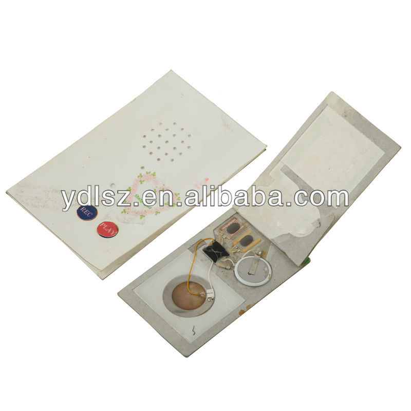 10-360s custom sound module for birthday recording card/ greeting card voice module