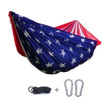 New Coming Fashion Usa Flag Lightweight Sleeping Baby Crib Outdoor Hammock swing bed