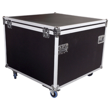 Custom heavy duty cable microphone stand aluminium flight case with wheels