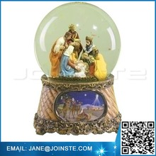 Roman 6 Musical Three Kings Nativity Scene Religious Christmas Snow Globe Glitter-dome Music is Little Drummer Boy
