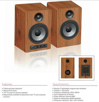 best selling wood box bookself speaker AL-30 Home Hi-Fi Bookshelf Speaker
