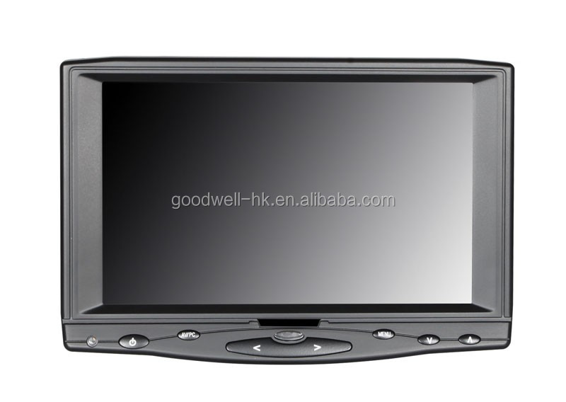 1024x600 Touch 7 inch Monitor for Car with AV/VGA/HDMI Input ,IPS Panel ,16:9