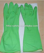 Cotton lined rubber Latex Household Gloves FHG012