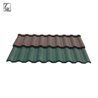 Nigeria Kenya Tanzania Building Material Colorful Stone Coated Metal Roofing Tile, Polished Bent Stone Metal Roof Tiles