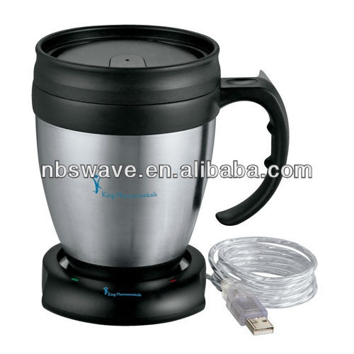 Java Desk Mug and USB Mug Warmer Set