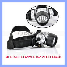 Adjustable 12 White LED Flashlight Head Lamp Light Headlamp Waterproof