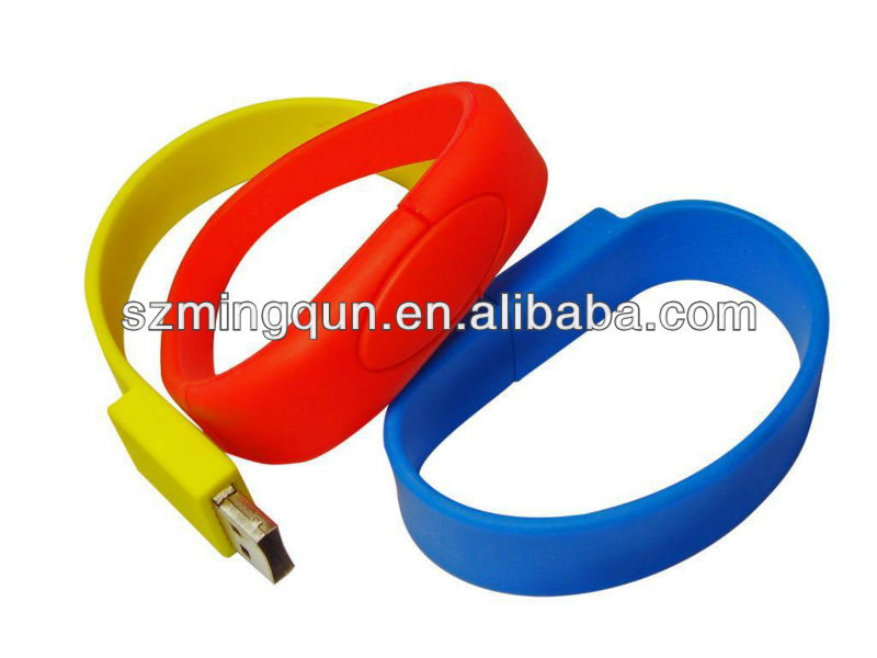 Colorful silicon usb bracelet, usb wristband, bracelet usb