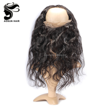 Cheap Human Hair Round 360 Lace Frontal Closure with Baby Hair