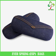 High-end creative denim fabric eyeglass case, classic design eyeglass holder, personalized stylish eyewear case