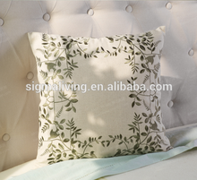 2018 Spring Green Embroidered linen cheap outdoor chair cushions