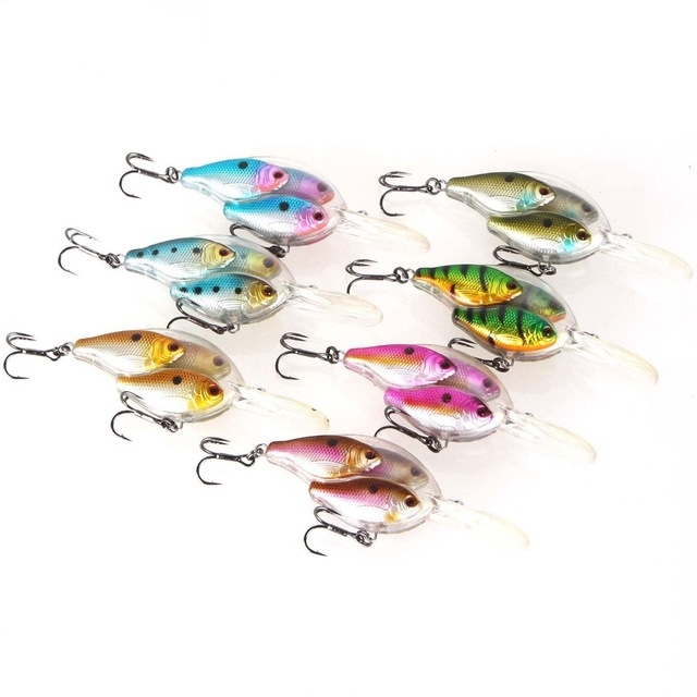 9.7CM/18G Fishing Lure Deep Swim Hard Bait Fish Artificial Wobbler Crazy Swiming crank fishing lure