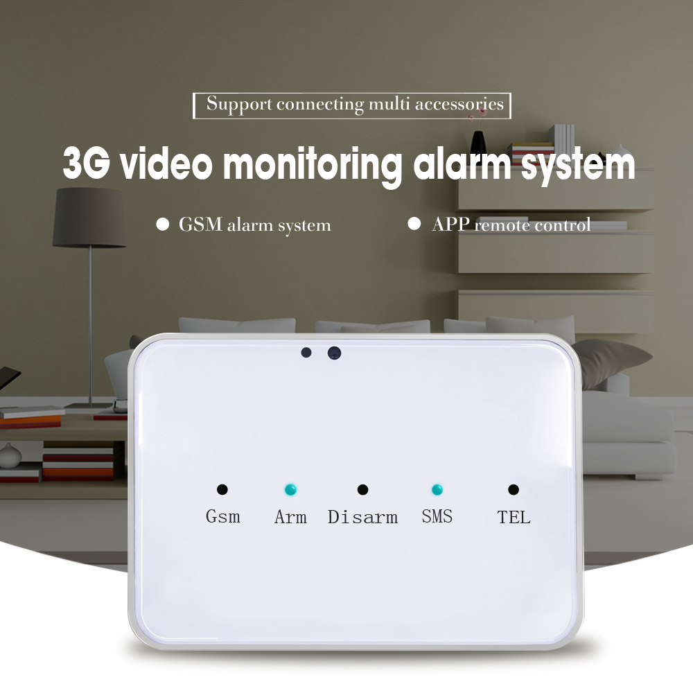 Video mms sms home security alarm system support APP smartphone motion sensor 2017 hot new products senior care self defense