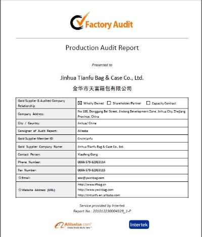 Factory Audit by alibaba