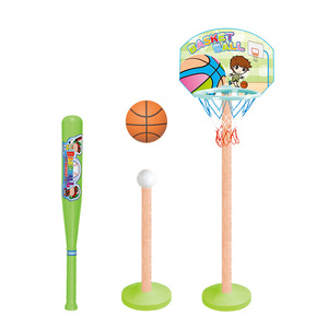 2 in 1 factory kids plastic sports toys basketball toy and baseball kit set toys
