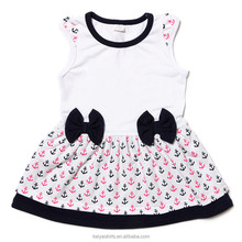 2017 latest sleeveless tank little baby frock designs for girls