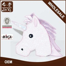 Pink unicorn shaped small coin purse