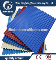 thin used corrugated roof sheet