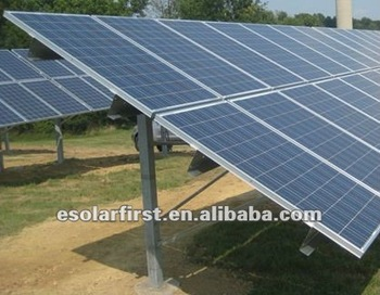 Ramming ground solar mounting system