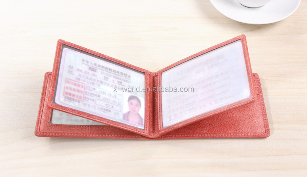 Good quality synthetic leather drivers license card holder