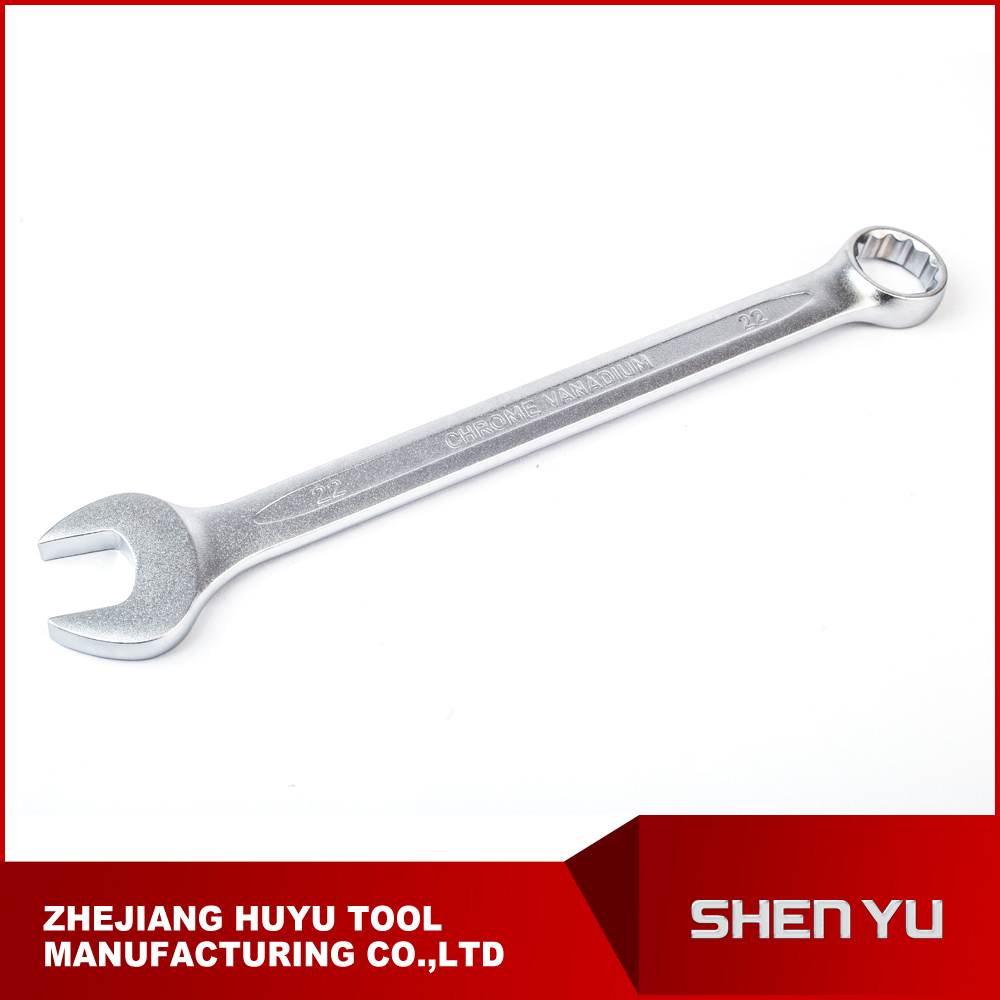 Hand Tool Matt Polished and chrome plated combination wrench