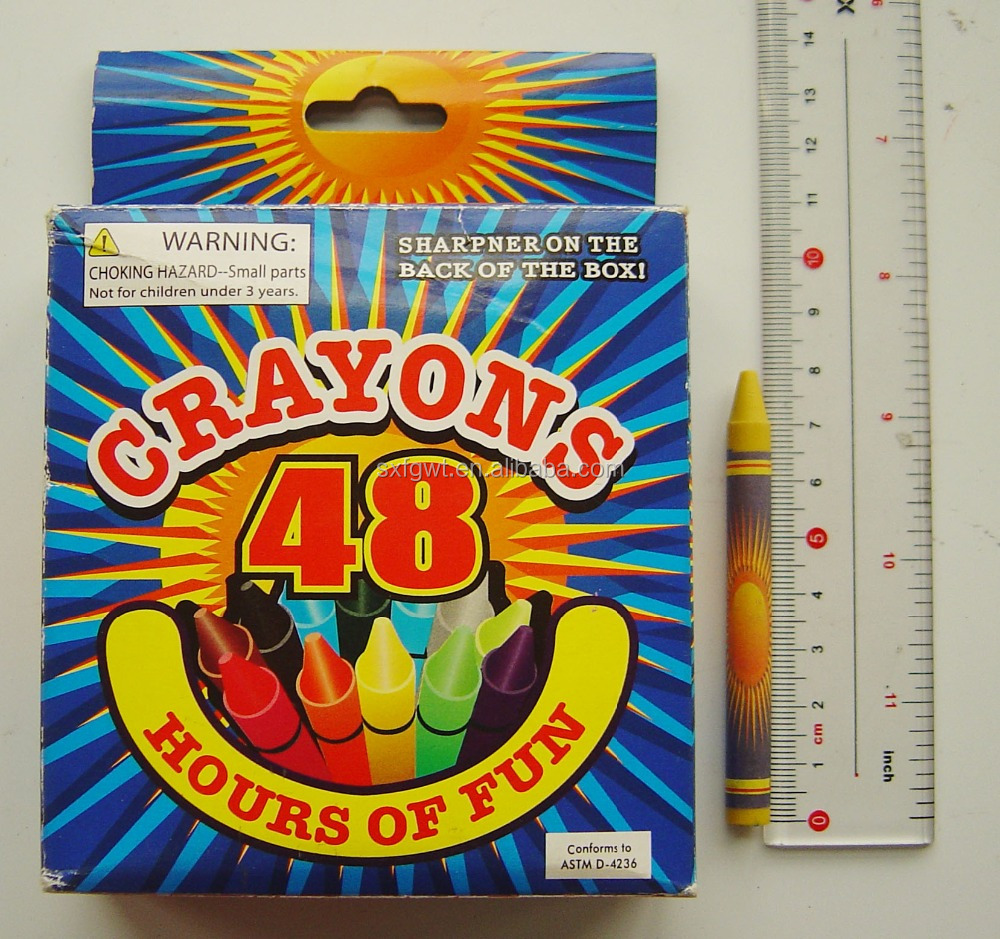 48 Colors Boxed Crayons for dollar tree